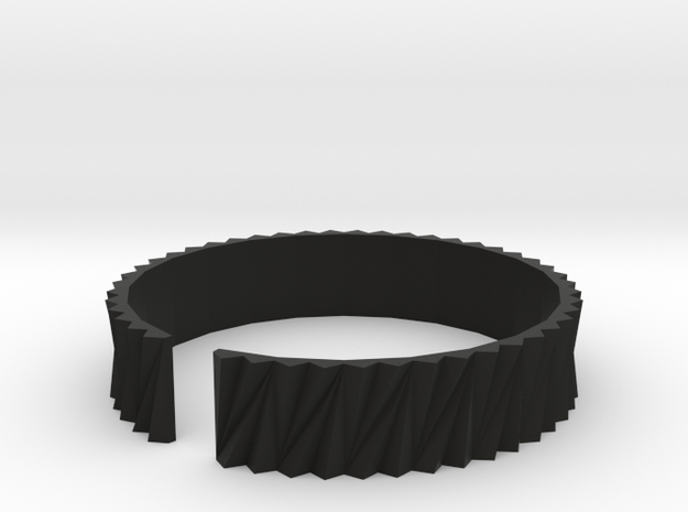 Arch1(big) - Plastic bracelet. in Black Strong & Flexible