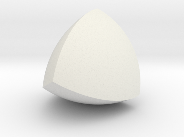 Meissner Tetrahedron in White Natural Versatile Plastic