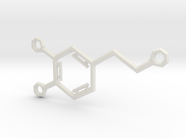 Small Dopamine Molecule in White Natural Versatile Plastic