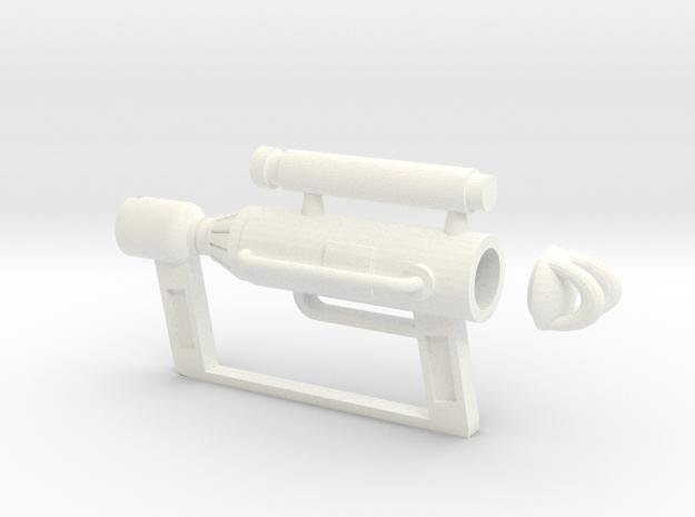 Catgun in White Processed Versatile Plastic