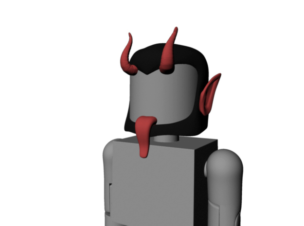 Krampus head for Minimates in Smooth Fine Detail Plastic