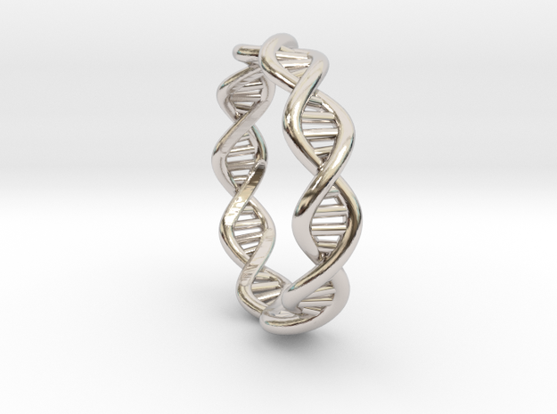 Female DNA Ring From The Male Female Matching Set in Platinum