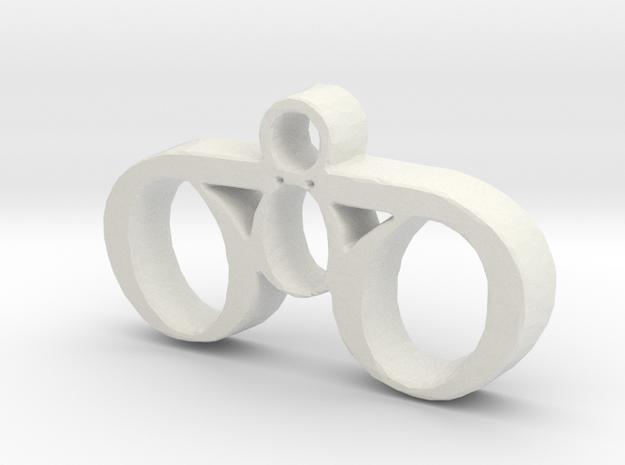30 Necklace Pendant in White Natural Versatile Plastic