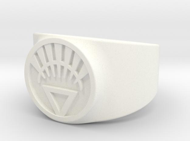 White Life Ver 2 GL Ring (Sz's 5-15) 3d printed