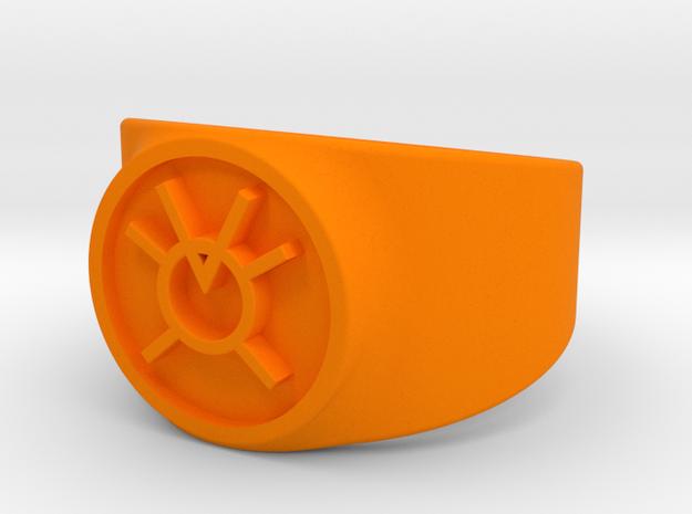 Orange Avarice GL Ring (Szs 5-15) in Orange Processed Versatile Plastic