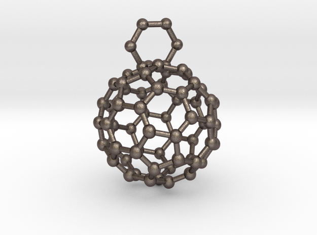Bucky ball necklace 3r in Stainless Steel
