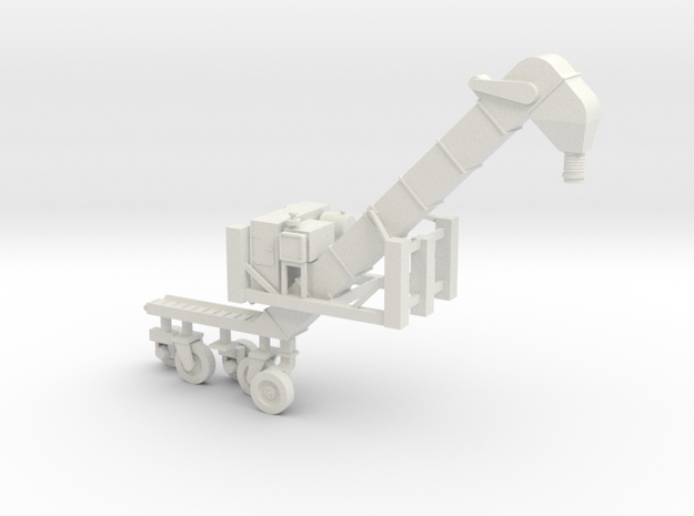 1/50 Conveyor Loader-Unloader (Transloader) 3d printed Please note, the wheels are on sprues for manufacture.