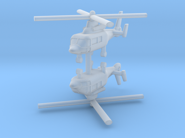 1/700 Eurocopter AS365 Dauphin (x2) in Smooth Fine Detail Plastic