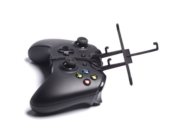 Xbox One controller & LG KS10 3d printed Without phone - Black Xbox One controller with Black UtorCase