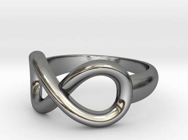 Infinity Ring-Size 7 in Fine Detail Polished Silver