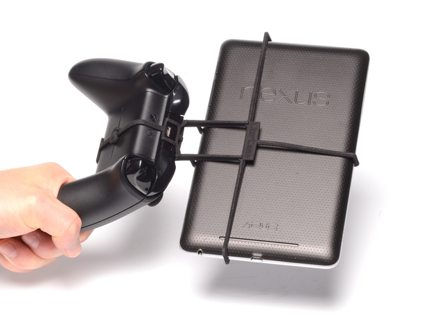 Xbox One controller & Sony Xperia Tablet S 3d printed Holding in hand - Black Xbox One controller with a n7 and Black UtorCase