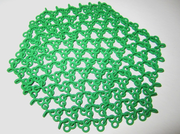 Hexa Fabric in Green Strong & Flexible Polished