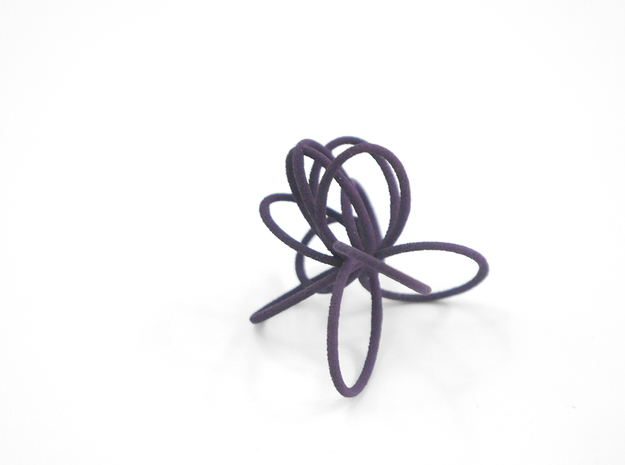 Flora Ring B (Size 8) 3d printed Custom Dyed Color (Midnight)