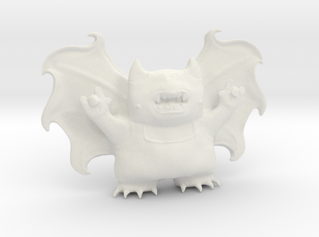 Cute Demon Full 8cm in White Strong & Flexible