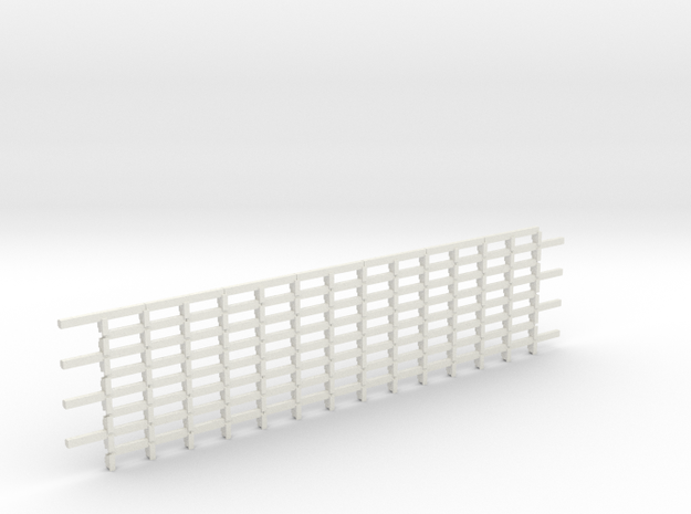 CRIB-WALL1-64-8 Tair in White Natural Versatile Plastic