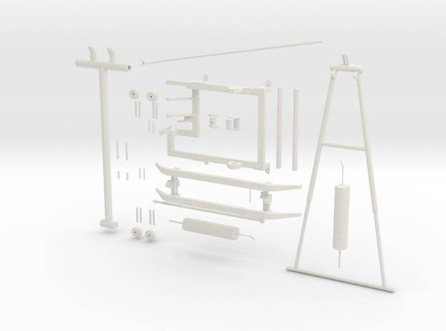Pantograph PIECES in White Natural Versatile Plastic