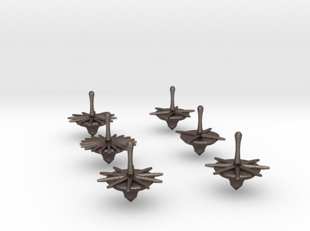 Full Set Bonetop Dice M2 in Polished Bronzed Silver Steel