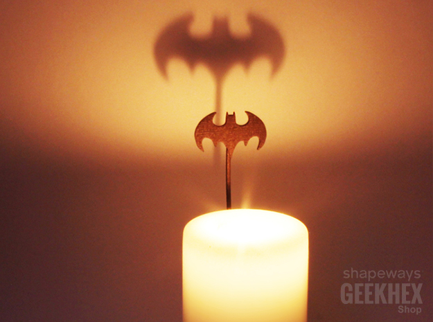 Batman 1992 - Spotlight Candle Attachment in Polished Bronze Steel