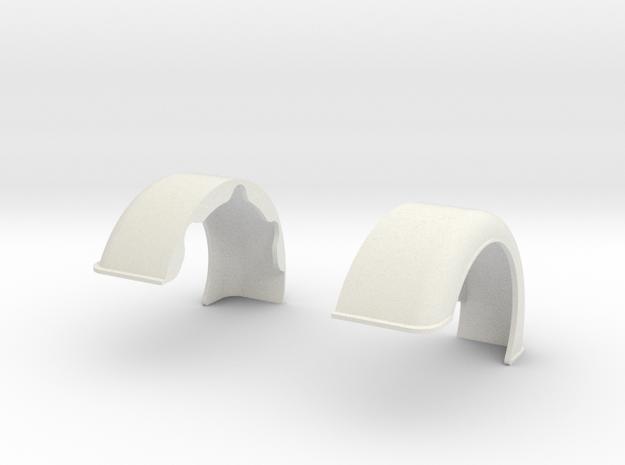 Custom-Fenders-King Hauler-cab in White Natural Versatile Plastic