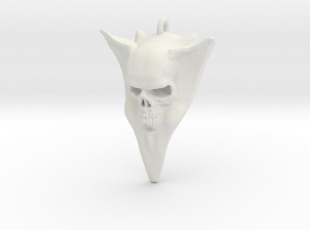 Skull Guitar pick stainless in White Natural Versatile Plastic