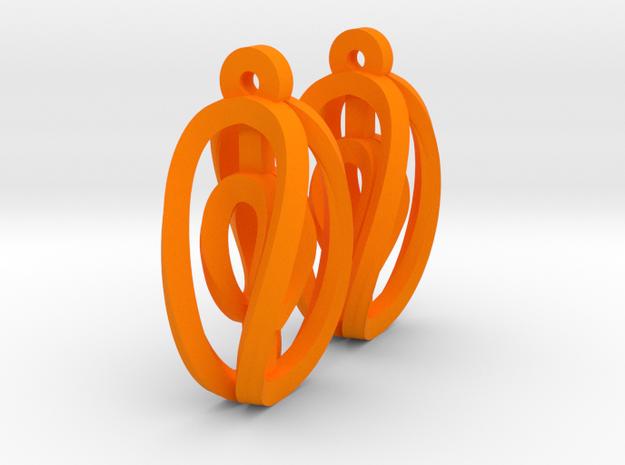Miniature Aerial Earrings 3d printed