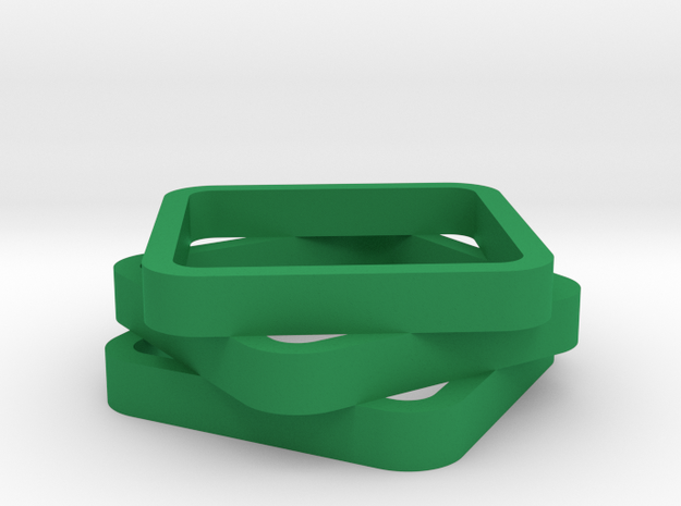 Stacked And Staggered Ring - US Size 07 3d printed