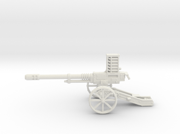 Steampunk Automatic Cannon in White Strong & Flexible