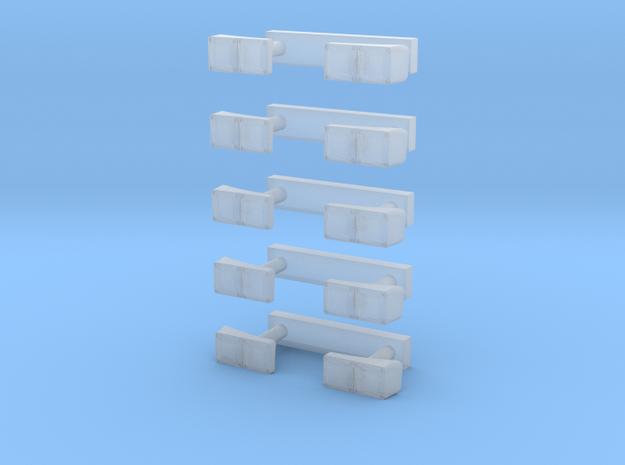 Heckleuchten 5Paar in Smooth Fine Detail Plastic