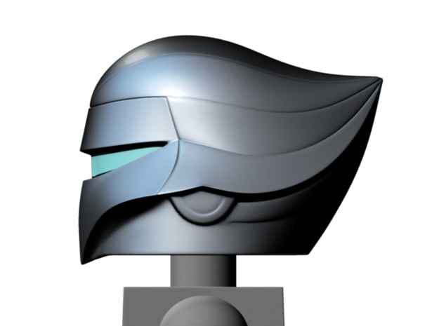 Quicksilver helmet (w/ mask) for Minimates in Smooth Fine Detail Plastic
