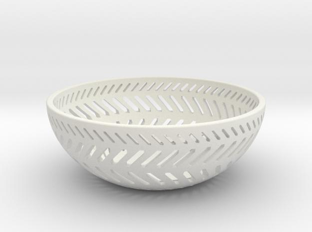 Backslash Bowl in White Natural Versatile Plastic