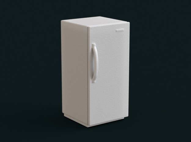 1:39 Scale Model - Refrigerator 01 in White Natural Versatile Plastic