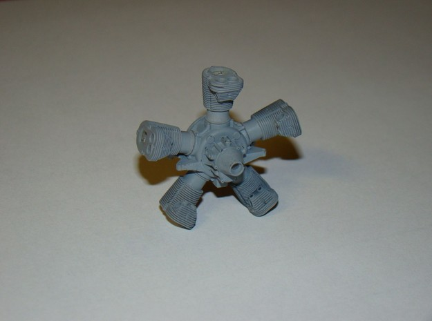 1/20 scale Viale aero engine 3d printed parts primed and temporary assembled