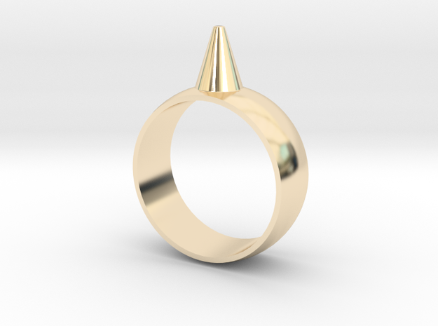 223-Designs Bullet Button Ring Size 8.5 in 14K Yellow Gold