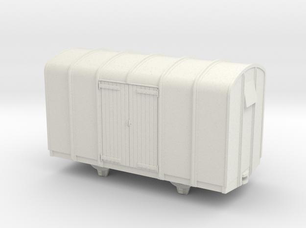 009 4 wheeled colonial van wood doors 3d printed
