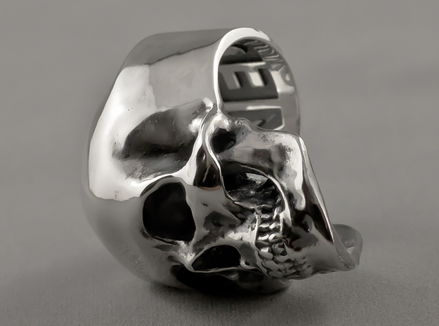 =Epic= Skull Ring - Size 13 in Polished Silver