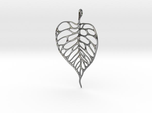 Heart Shaped Leaf Pendant: 5cm