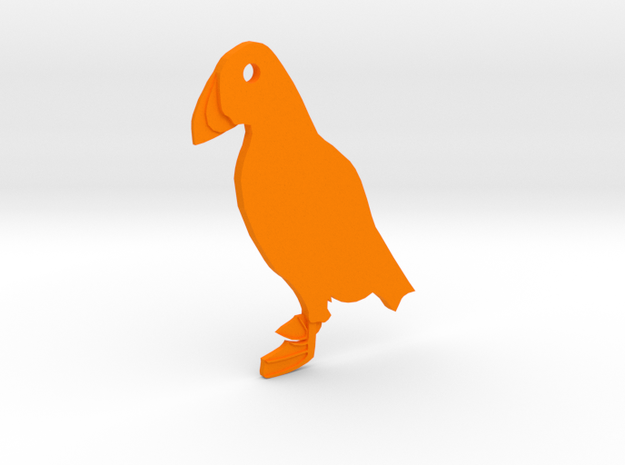 Puffin in Orange Processed Versatile Plastic