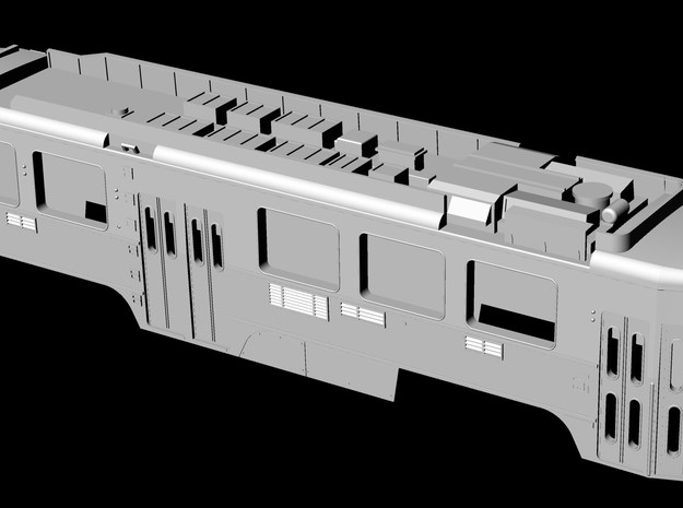 N Scale SEPTA Kawasaki Single-End LRV Body Shell 3d printed
