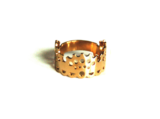 Modern Lace Ring in 14k Gold Plated