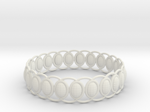 O Ring 2 in White Natural Versatile Plastic