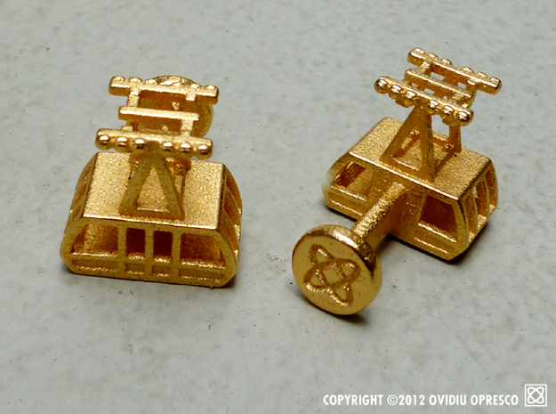 The New (2010) Roosevelt Island Tram Cuff-Links  3d printed