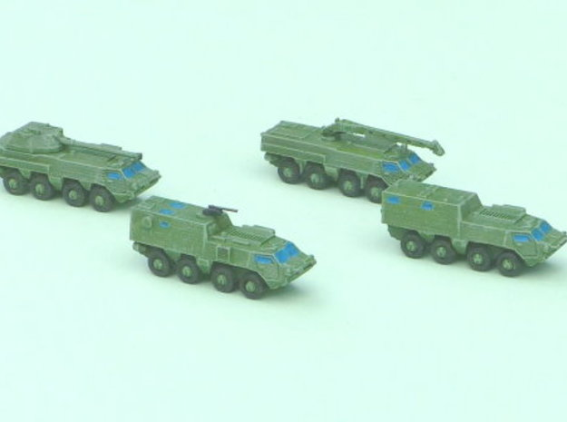 BTR-4 Ukrainian APC Family 1  1/285 6mm in Smooth Fine Detail Plastic