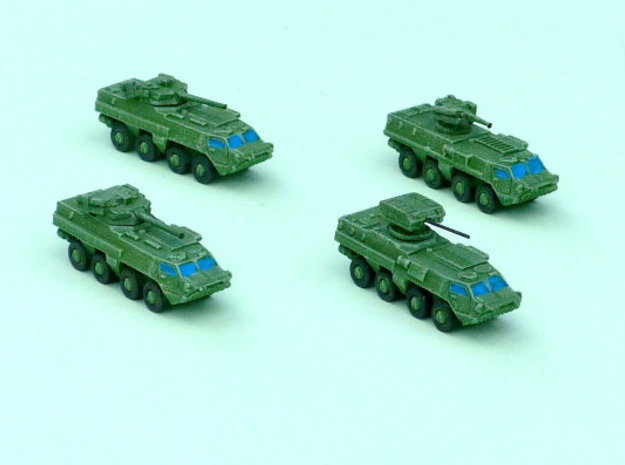 BTR-4 Ukranian APC Family 2  1/285 6mm in Smooth Fine Detail Plastic