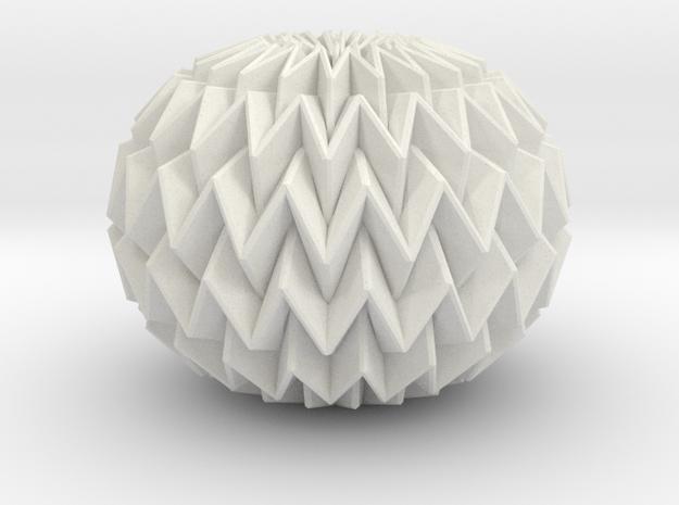 Miura Ball / sphere Decor Lite  in White Natural Versatile Plastic