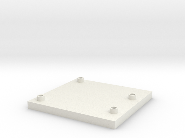 Arduino Uno Flat Mount in White Natural Versatile Plastic