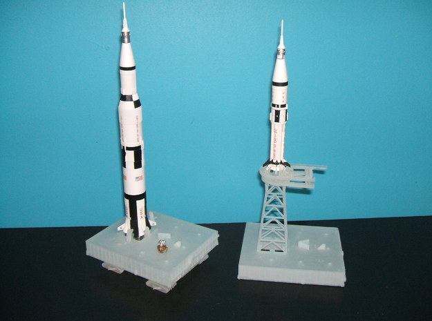 1/400 Saturn V MLP, Apollo launch pad 3d printed My thanks to Alain for photos of his unfinished models.