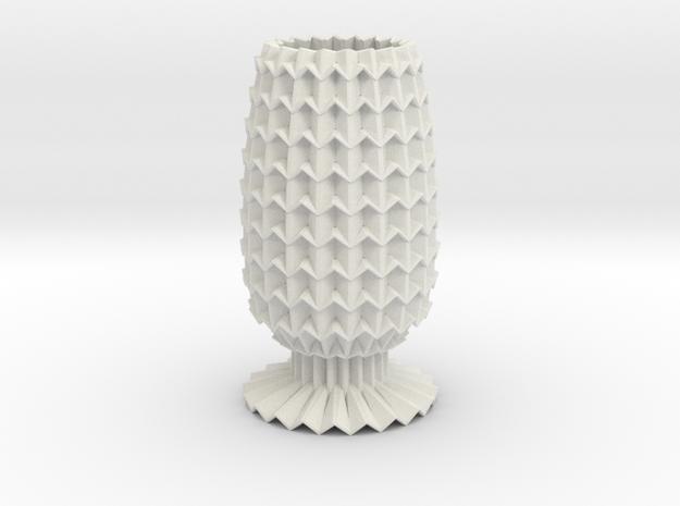 Vase Grid Decorative Lite in White Strong & Flexible