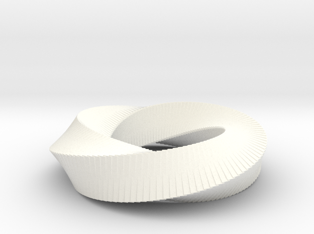 Möbius Strip (4,3) in White Strong & Flexible Polished