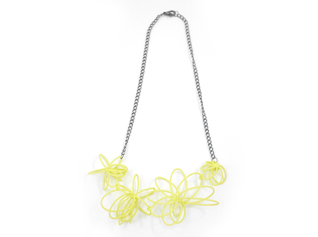 Flora Necklace 3d printed Key Lime (Custom Dyed Color)