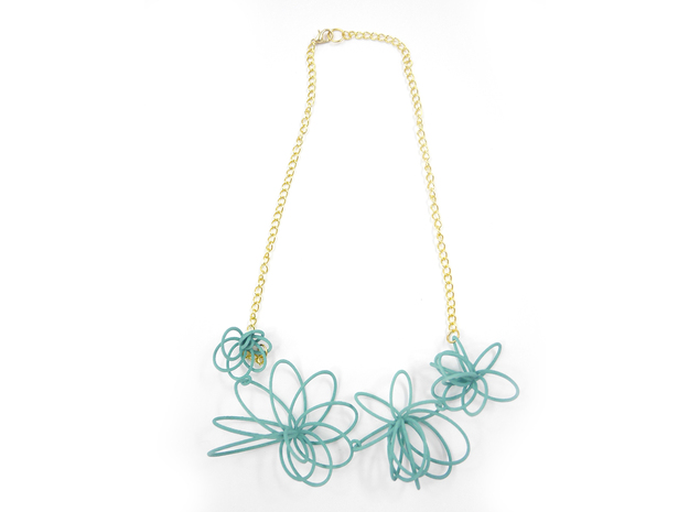 Flora Necklace in White Strong & Flexible